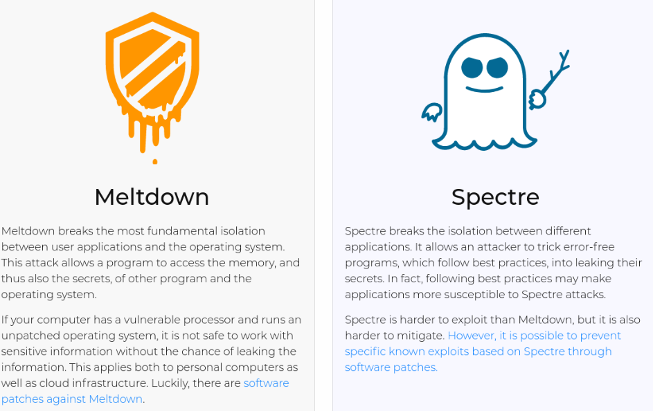 Meltdown and Spectre Overview